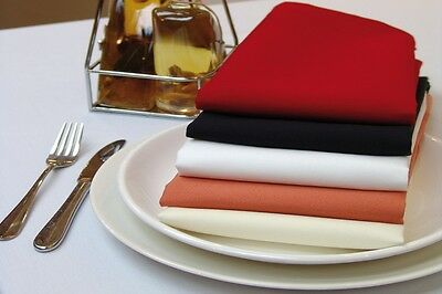 "100 Packs 20"" x 20"" Polyester Napkins Wedding Party Event Catering 24 COLORS USA"