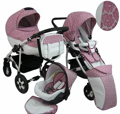 Cleo Pram For Child Stroller Pushchair + Car seat 3in1 NEW 22 Colors