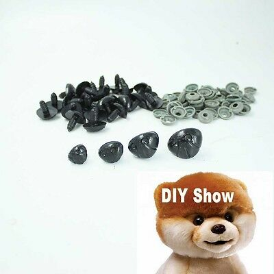 20/50/100Pcs Black Plastic Noses For Teddy Bear,Puppy,Doll,Stuffed Animal Toy
