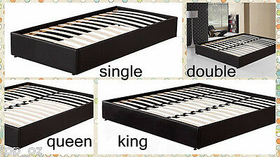 New Single/Double/Queen/King PU Leather upholstered Bed Frame Ensemble