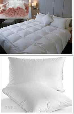 Luxurious Goose Feather And Down Duvet With Two Goose Feather Pillows