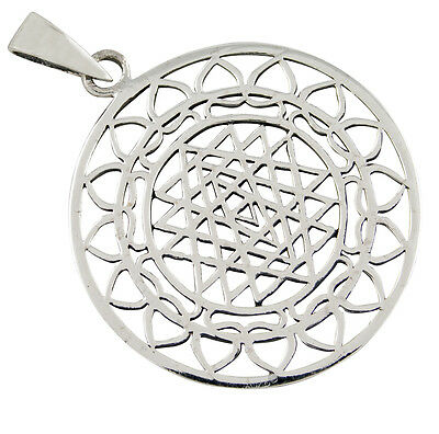 SRI YANTRA Silver Pendant holy Geometry Esoteric Jewelry, more in Shop b318