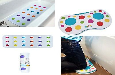 Munchkin Dandy Dots Bath Mat and Matching Bath Kneeler