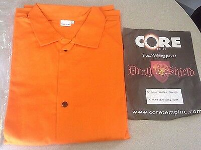 "NEW Sz.LARGE L CoreTemp FR Cotton Orange Welding Jacket Shirt 30"" 9 oz lot avlb."