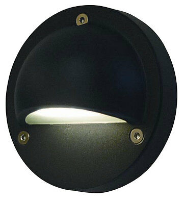 240V LED Exterior Eyelid Step Light IP54 16,000hrs ( STE4 )(240V / Black)
