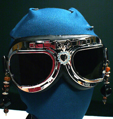Halloween Costume Prop ~ Motorcycle Goggles ~ Post-Apocalyptic Diesel SteamPunk