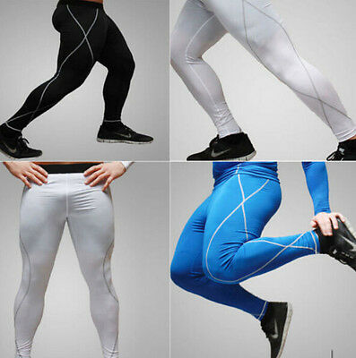Hot Mens Under Tight Base Layer Pants Thermal Compression Long Leggings Sz  4Y