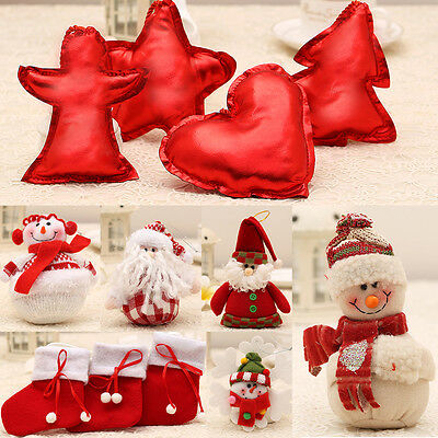 Red Christmas Hanging Tree Pendant Decoration Xmas Stocking Ornament Party Gifts
