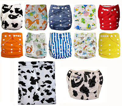 Cloth Nappy Bulk Pack unisex Modern Cloth Nappies MCN+ wetbag & bonus swim nappy