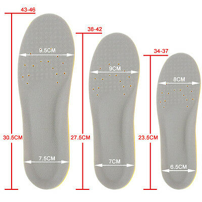 Arch Supports Memory Foam Orthotics orthopedic Sport Athletic Shoe Insoles Pads