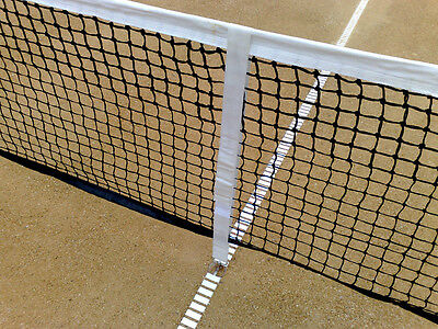 Professional Adjustable Tennis Court Center Net Strap Slide Height White Color