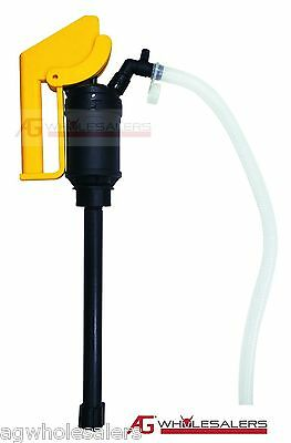 Lever Action & Siphon Hand Pump Water Petrol Oil Diesel Thinner Fuel Drum rotary