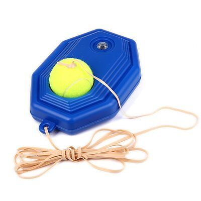 Andux Tennis Ball Back Base Trainer Set+Rubber Band for Single Training Practice