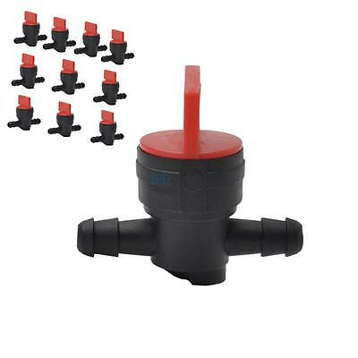 "10x 1/4"" In-Line Straight Fuel Gas Shut-Off Cut-Off Valve For Motorcycle Engine"