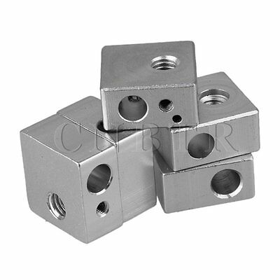 5pcs Heater Block 3D Printer Hot End with M6 M3 Thread for print head heating