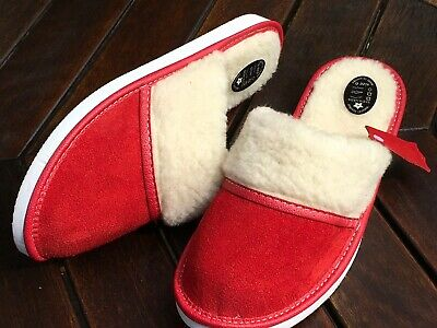 Women Lady' Slippers Sheepskin Woolen Chesnut Suede Leather Size 3 4 5 6 7 8