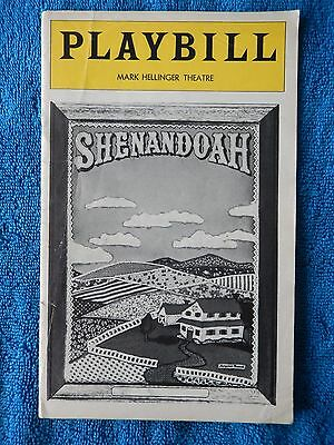 Shenandoah - Mark Hellinger Theatre Playbill - July 1977 - William Chapman