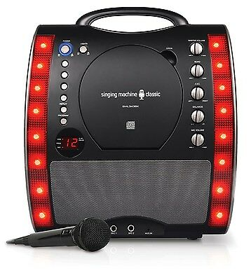 Children Singing Machine SML343BK Karaoke Machine Kids Party Disco Gift - Black