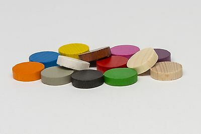 Pack of 10x 15x4mm wooden discs