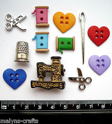 LOVE OF SEWING Craft Buttons Novelty Ladies Clothes Hobby Needlework Quilting