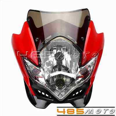 Universal Spyder Streetfighter Headlight lamp Motorcycle Bike Fairing For Honda