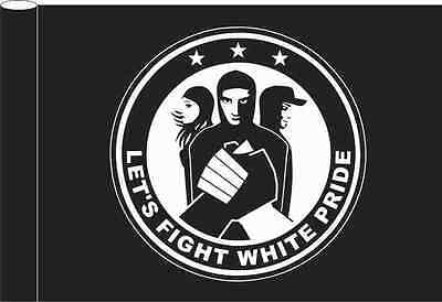 Fight White Pride Flagge