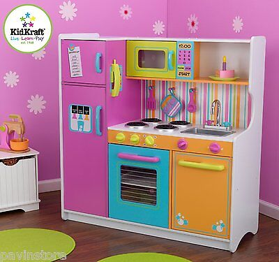 KidKraft Deluxe Big N Bright Kitchen Toy Set Food Kids Pretend Play Kid Toys New