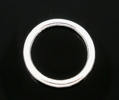 50 pcs 14mm x 2mm silver plated soldered closed jump rings jewellery findings