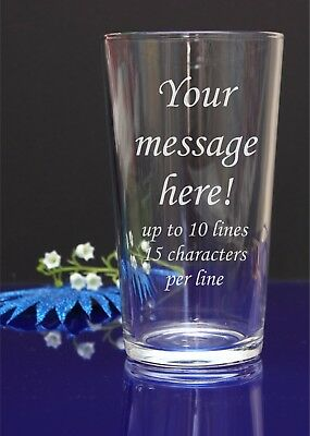 Personalised Engraved Pint Glass Birthday Wedding Celebration, Football by jevge