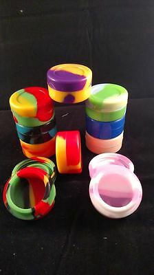 5 Silicone Jar Nonstick Containers 7ml Screw Top Free Shipping