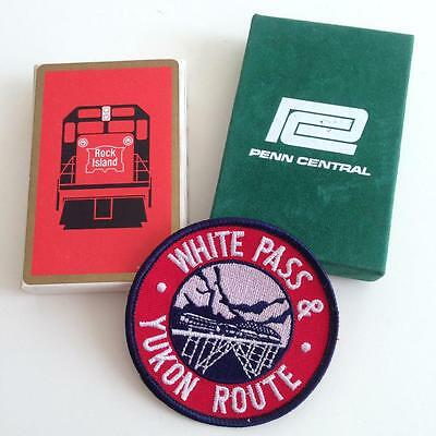 Rock Island Penn Central Railroad Playing Cards + White Pass Yukon Route Patch