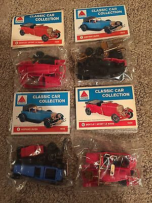 Lot of 4 Citgo Classic Car Collection snap-together model cars FREE SHIPPING