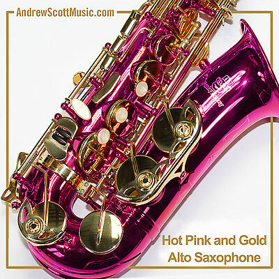 New Hot Pink Alto Saxophone in Case - Masterpiece