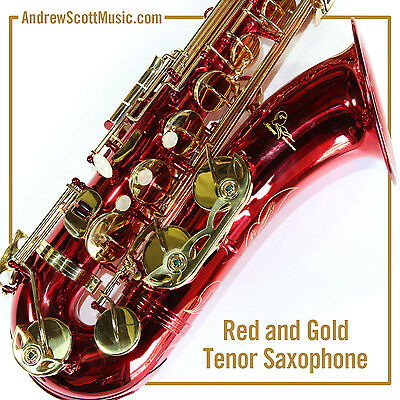 New Red Tenor Saxophone in Case - Masterpiece