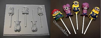 DESPICABLE ME MINIONS MINION Chocolate Candy Lollipop Soap Gummy Clay Mold