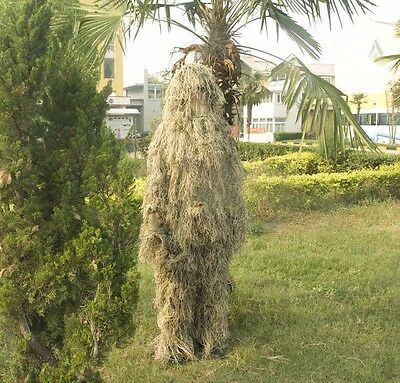 Grass Style 3D Desert Camo Ghillie Suit Yowie Sniper Tactical Camouflage Clothes