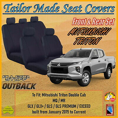 Canvas Seat Covers for Mitsubishi Triton MQ Double Cab from 05/2015 - ON