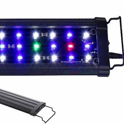 "12""/18""/24""/30""/36"" Aquarium LED Light HIGH LUMEN  Full Spectrum Marine FOWLR"