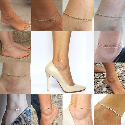 New Sexy Women Gold/Silver Ankle Chain Anklet Bracelet Foot Jewelry Sandal Beach