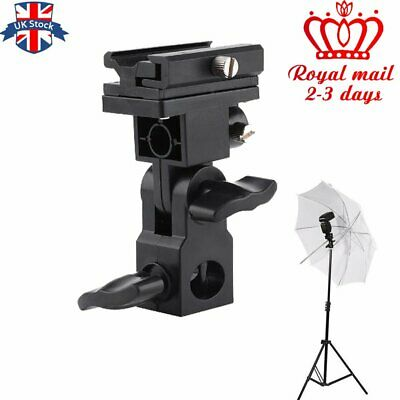 B Type Hot shoe Flash Flashgun Speedlite Bracket Umbrella Holder Light Stand