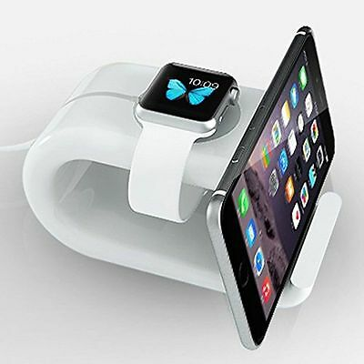 2 in 1 Charging Dock Station Holder Mount Stand for Apple Watch 1 2 iPhone iPad
