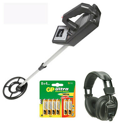 Lightweight Metal Detector With Waterproof Coil Headphones and Batteries