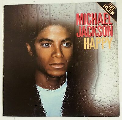 "Michael Jackson Happy Single 7"" UK 1975 La portada es un poster desplegable"