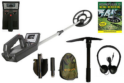 Visua Beginners Metal Detector Waterproof Coil Headphones Pick Batteries & Guide