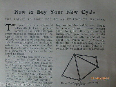 Buy New Bicycle Cycle Raleigh Enfield Tom Browne Rare Antique Photo Article 1906