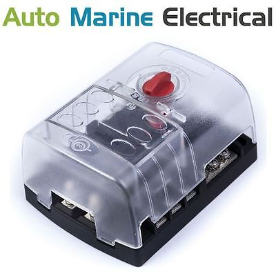 6 Way Blade Fuse Box / Bus Bar With Cover - Marine Car Boat Motorhome 12V 24V