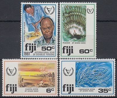 Fiji 1981 ** Mi.432/35 Behinderte Kunst Handicapped Disabled Persons [sq6701]