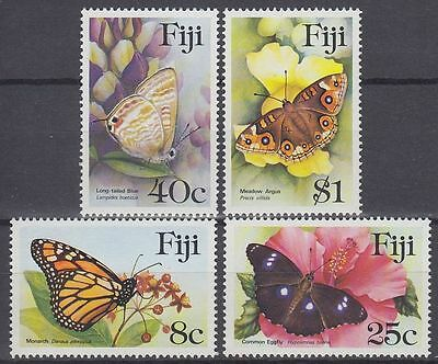 Fiji 1985 ** Mi.517/20 Schmetterlinge Butterflies Insekten Insects [sq6720]