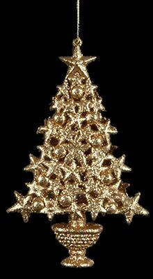 Kurt S. Adler Golden Splendor Gold Glitter Christmas Tree Christmas Ornament