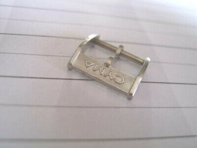 Vintage Nos 14Mm Cyma Chrome Plated Watch Buckle             *3391